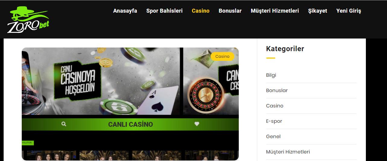 Zorobet Casino